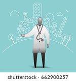 city hospital doctor   Shutterstock .eps vector #662900257