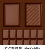 realistic chocolate bar. ready... | Shutterstock .eps vector #662902387