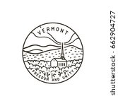 vintage vector round label.... | Shutterstock .eps vector #662904727