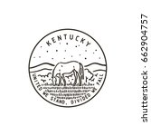 vintage vector round label.... | Shutterstock .eps vector #662904757