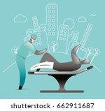 medical plastercast   Shutterstock .eps vector #662911687