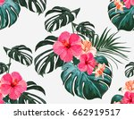 beautiful seamless vector... | Shutterstock .eps vector #662919517