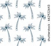 palm tree pattern. summer... | Shutterstock .eps vector #662922643