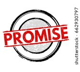 promise sign or stamp on white... | Shutterstock .eps vector #662930797