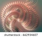 abstract futuristic shape... | Shutterstock . vector #662934607