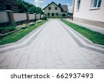 perspective view of monotone... | Shutterstock . vector #662937493