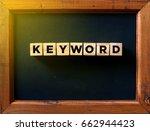 keyword word written in the... | Shutterstock . vector #662944423