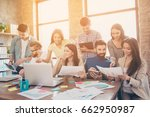 team building concept. close up ... | Shutterstock . vector #662950987