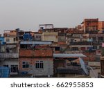 group of houses calls favela at ... | Shutterstock . vector #662955853