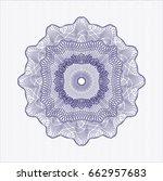 blue rosette or money style...   Shutterstock .eps vector #662957683