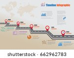 design template  road map... | Shutterstock .eps vector #662962783