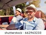 leisure  road trip  travel and... | Shutterstock . vector #662963233