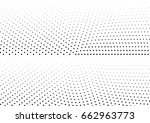 abstract halftone dotted... | Shutterstock .eps vector #662963773
