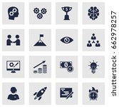 set of 16 startup icons set... | Shutterstock .eps vector #662978257