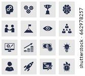 set of 16 startup icons set... | Shutterstock .eps vector #662978257