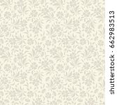 vector seamless beige floral... | Shutterstock .eps vector #662983513