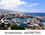 panoramic view of kyrenia ... | Shutterstock . vector #662987293