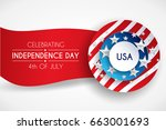 4th fourth of july  united... | Shutterstock .eps vector #663001693