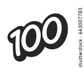 number 100   one hundred cool... | Shutterstock .eps vector #663007783