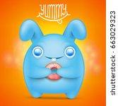 cute rabbit cartoon emoticon...   Shutterstock .eps vector #663029323