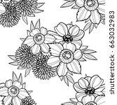 abstract elegance seamless... | Shutterstock .eps vector #663032983