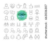 outline icon set. web and... | Shutterstock .eps vector #663036307