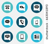 set of 9 editable device icons. ...