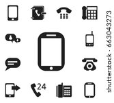 set of 12 editable phone icons. ...