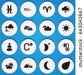 set of 16 editable climate...