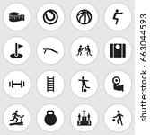 set of 16 editable sport icons. ...