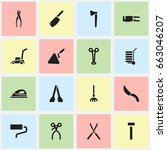 set of 16 editable objects...