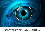 future technology  blue eye...   Shutterstock .eps vector #663050887