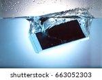 submersible smart phone | Shutterstock . vector #663052303