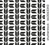 seamless pattern with geometric ... | Shutterstock .eps vector #663063343