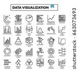 data visualization icons vector ...   Shutterstock .eps vector #663073693