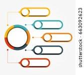 infographic design template...   Shutterstock . vector #663092623
