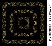 vector set of vintage frames... | Shutterstock .eps vector #663101887