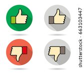 thumbs up and thumbs down icon   Shutterstock .eps vector #663103447