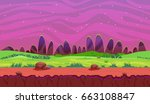 cartoon fantasy vector seamless ... | Shutterstock .eps vector #663108847