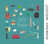 united kingdom  great britain...   Shutterstock .eps vector #663115117