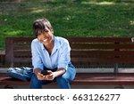 portrait of attractive young... | Shutterstock . vector #663126277