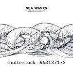 seamless border pattern with...   Shutterstock .eps vector #663137173