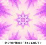Abstract Kaleidoscope Purple...