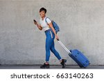 full body portrait of young... | Shutterstock . vector #663140263