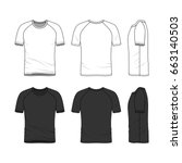 vector templates of clothing... | Shutterstock .eps vector #663140503