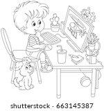 little computer gamer | Shutterstock .eps vector #663145387