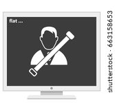 man in seat belt icon. | Shutterstock .eps vector #663158653