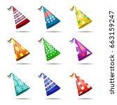vector set of realistic... | Shutterstock .eps vector #663159247