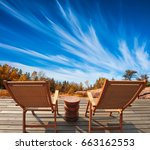 cirrus clouds in the autumn sky.... | Shutterstock . vector #663162553