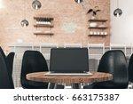 front view of empty laptop... | Shutterstock . vector #663175387